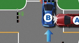 有灯路口未让先被放行的车