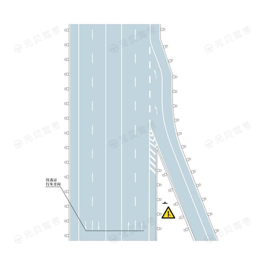 入口标线设置示例