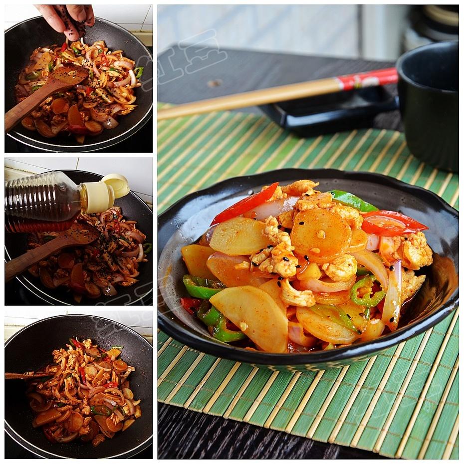 韩餐开胃料理美味---韩式辣炒鸡肉 - 慢美食博客 - 慢美食博客 美食厨房