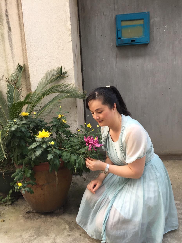 赏菊与摘菜 - 蔷薇花开 - 蔷薇花开的博客