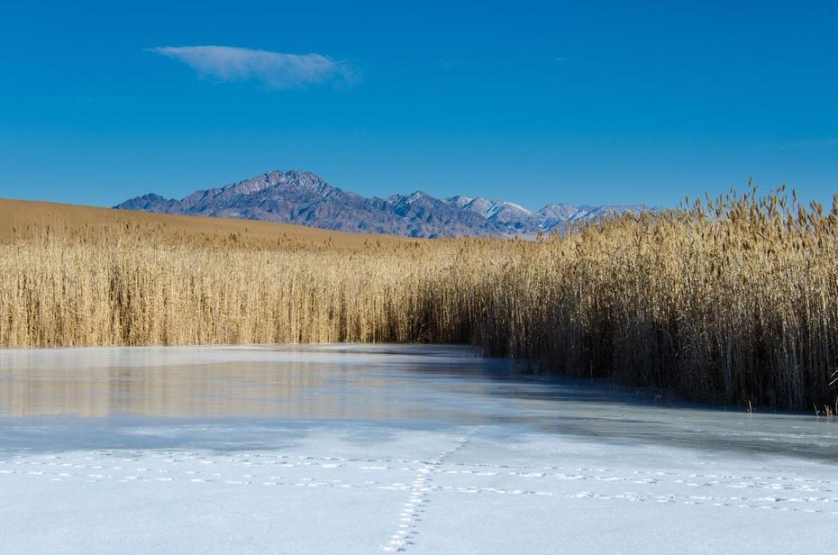 风光壮美的柴达木盆地冬日景色 - 海军航空兵 - 海军航空兵
