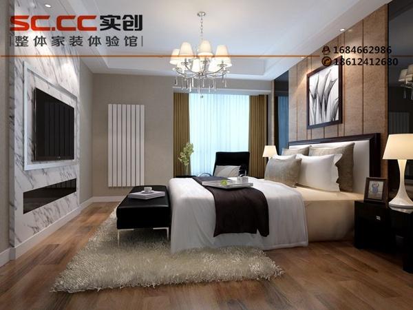 客厅以传统木质花格为基调,顶面吊顶以及电视墙镂空的现代雕花屏风使