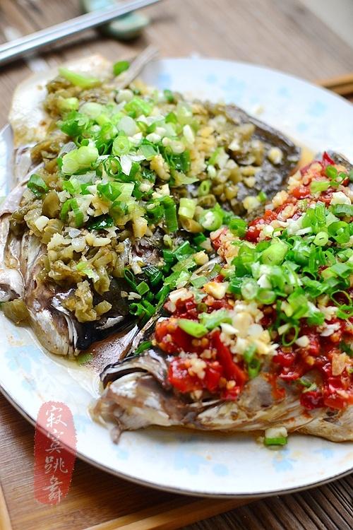 三餐舌尖之【双椒鱼头】 - 慢美食 - 慢 美 食