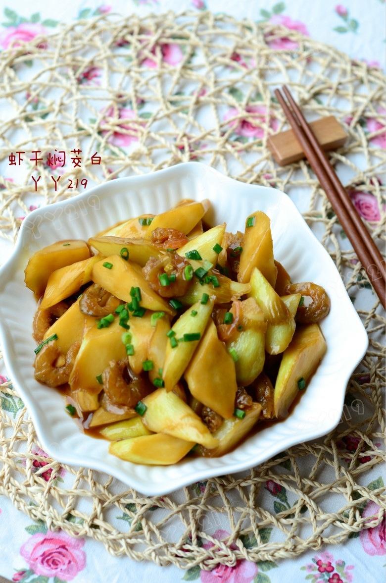 家常当季下饭菜:【虾干焖茭白】 - 慢美食 - 慢 美 食