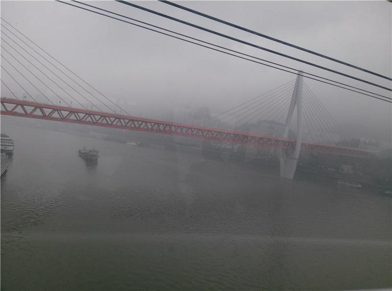 索道桥素描简笔画步骤
