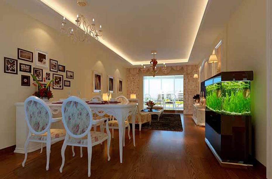 华城133平米三居室欧式简约风格装修效果图
