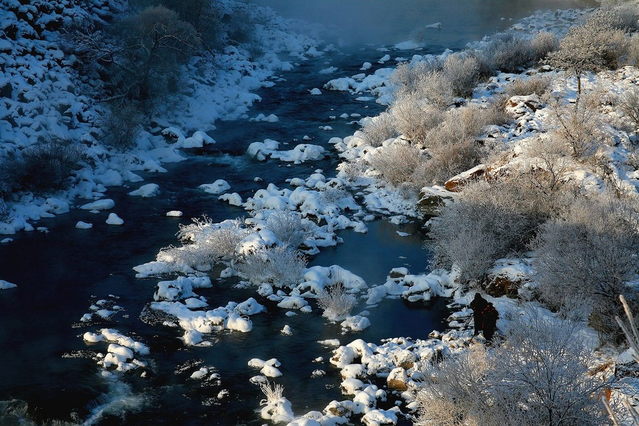 镜泊湖雾凇2013版 - H哥 - H哥的博客