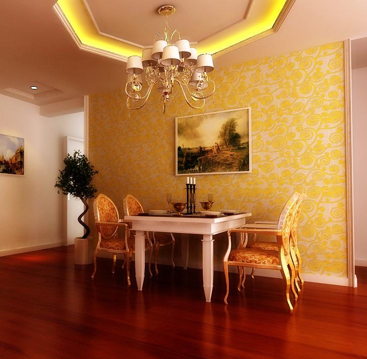 万业紫辰苑133平米欧式风格装修效果图