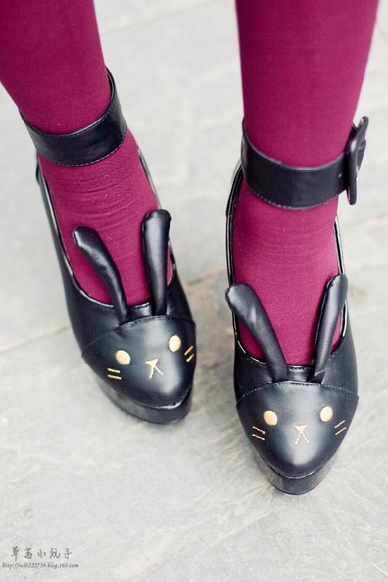 【服饰】伞群and兔子鞋-可爱的日韩系~ - 草莓小玩子 -