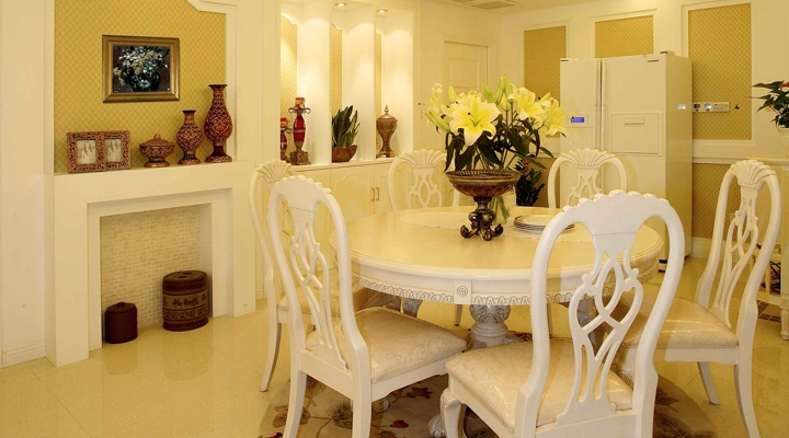 170平米四居室新古典欧式风格装修实景图