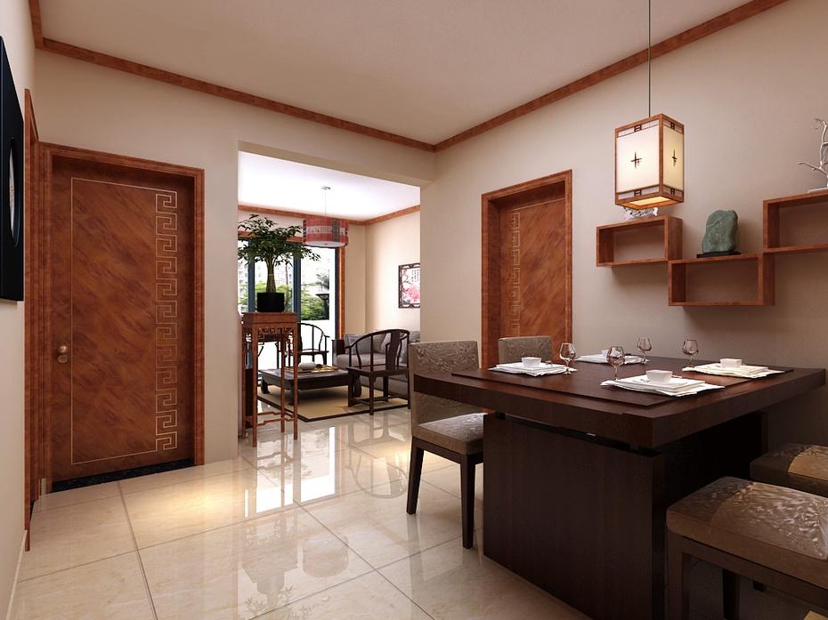 105平米中式简约风格装修图-广州左先生饭店中式装修图片2