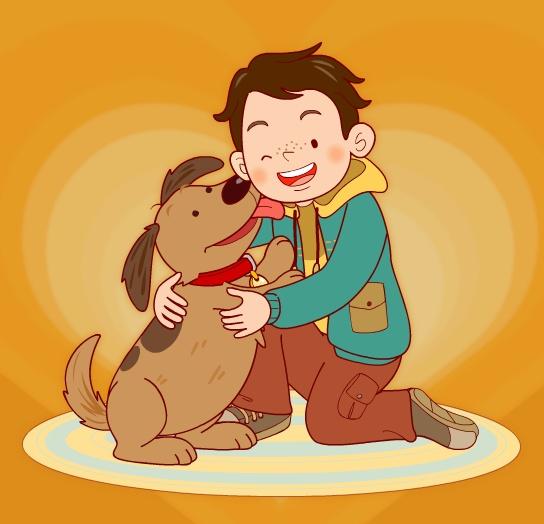 小动物的小男孩