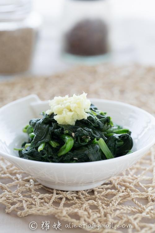 三分钟做出冬日里的爽口小菜----温拌姜汁菠菜 - 耀婕 - 耀婕食生活