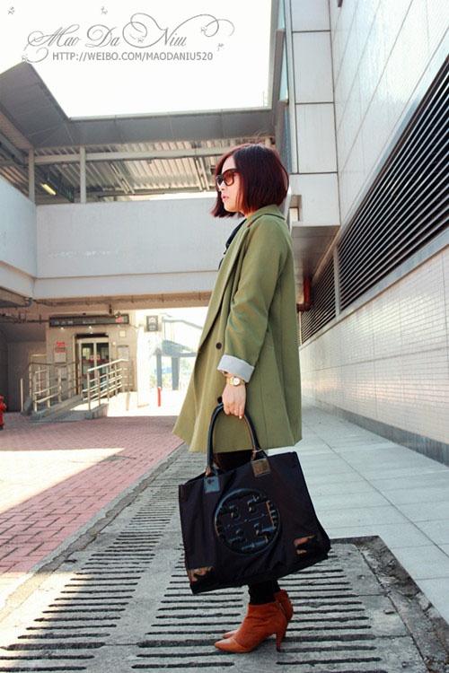 12-8 韩版宽松西服外套拼接小裸靴 - 猫大妞 - 猫大妞