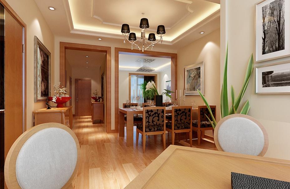 家人装修总后住宅小区简约时尚140平米三居--餐厅装修效果图