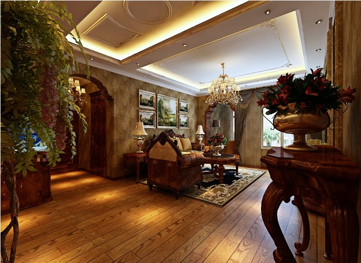 2万打造新新怡园193平三室一厅两卫欧式设计