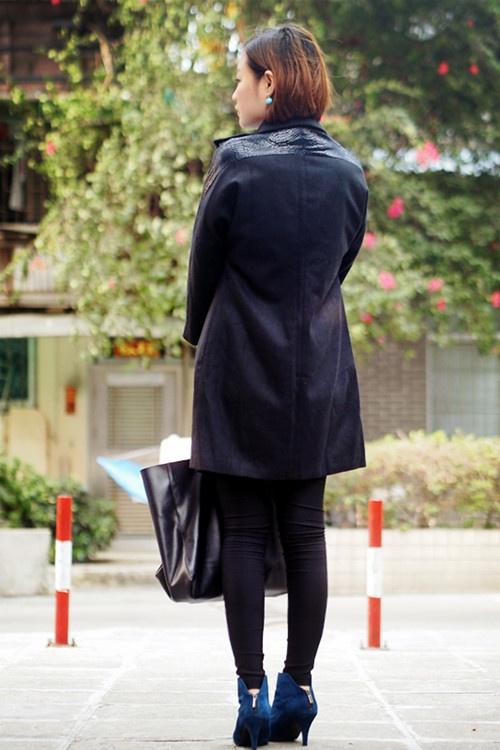 11-03 izabel london 宝蓝配黑色 - 猫大妞 - 猫大妞