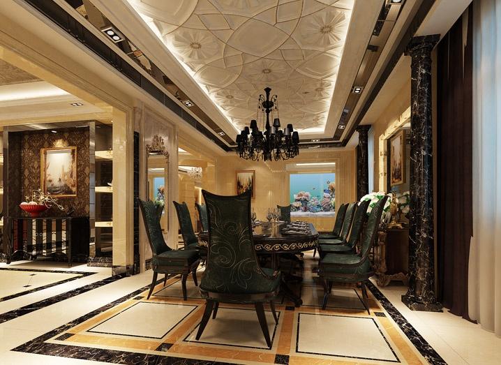 320平米五居室欧式中式混搭风格装修效果图