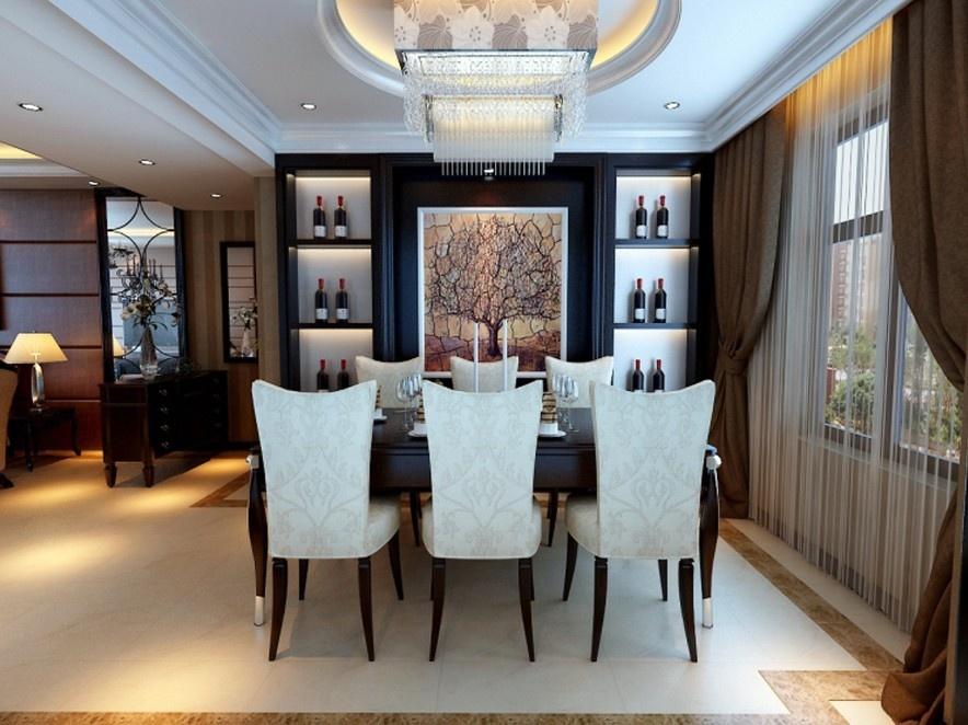 三居室简欧风格装修设计效果图和户型解析