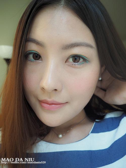 【猫大妞】容易上手的轻快蓝色调大眼妆(附教程) - 猫大妞 - 猫大妞