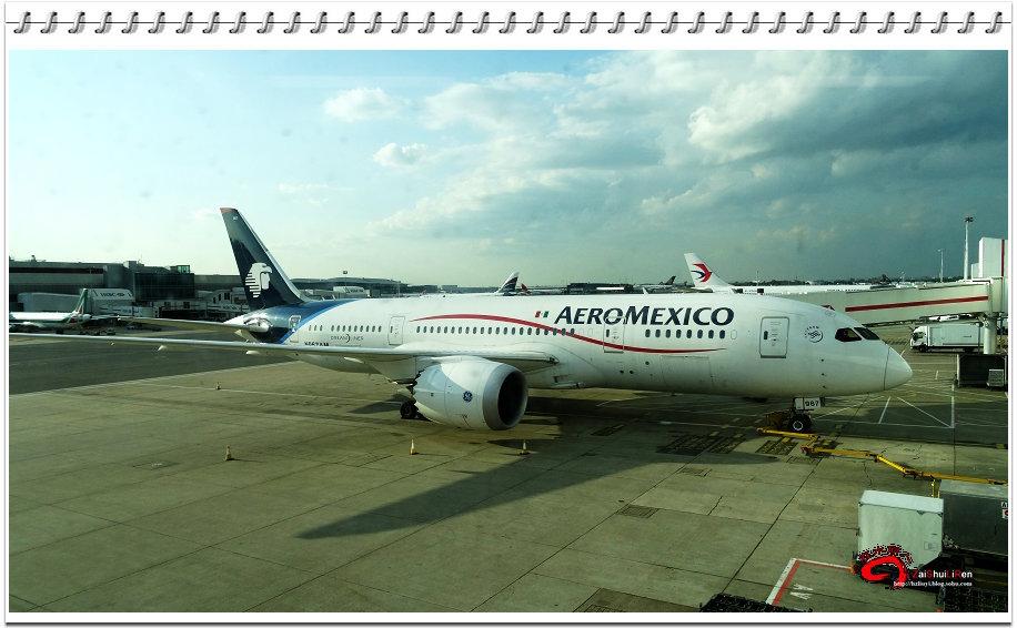 墨西哥航空的一架飞机(伦敦希思罗机场)