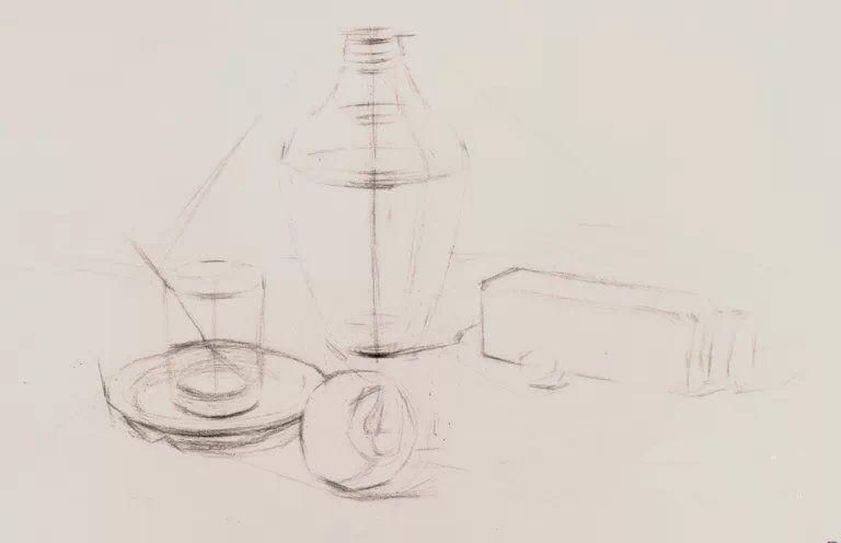 太原唐晋画室 素描静物玻璃器皿组合画法教程