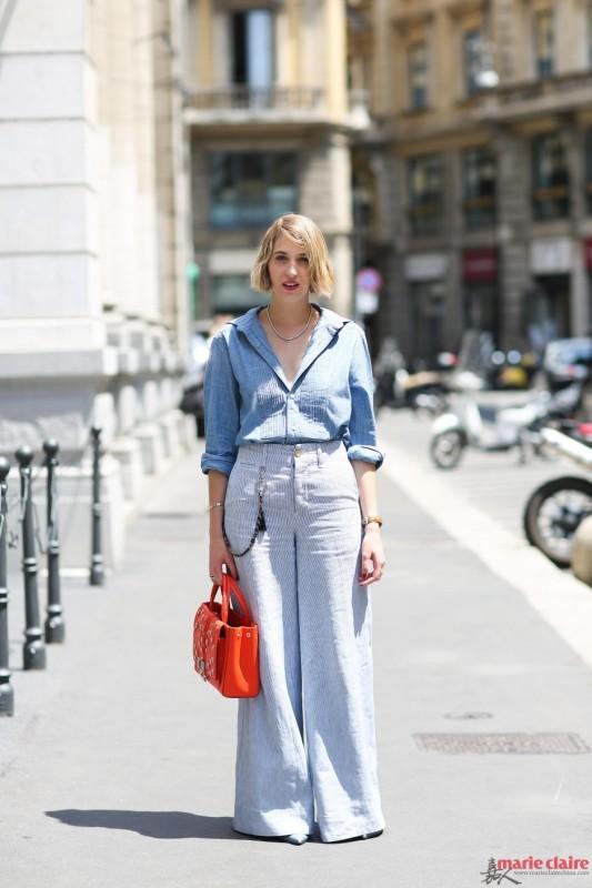 亲肤衬衫不能正经穿 敞开领口三颗扣才能时髦性感 - 嘉人marieclaire - 嘉人中文网 官方博客