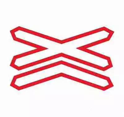 叉形符号用以警告车辆驾驶人注意慢行或及时停车。
