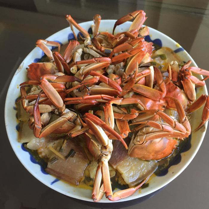 螃蟹蒸肉饼 - 蔷薇花开 - 蔷薇花开的博客
