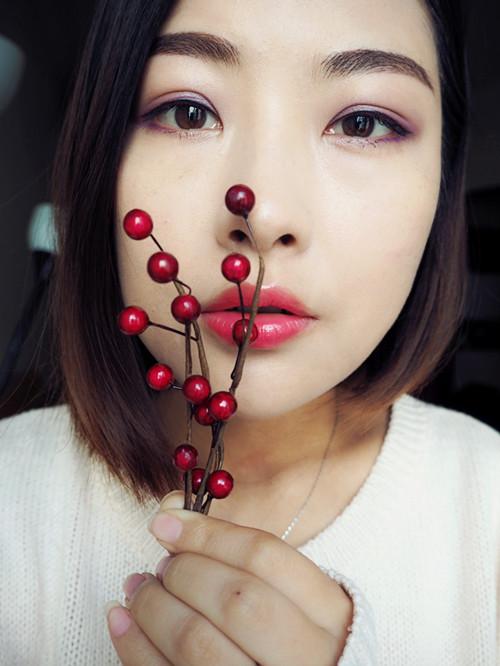 Dior浪漫紫色圣诞妆容(教程) - 猫大妞 - 猫大妞