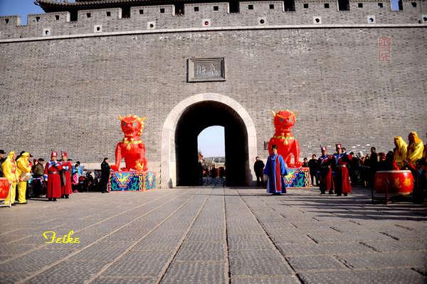 【原创摄影】青州古城观年景3:开城仪式 - 古藤新枝 - 古藤的博客