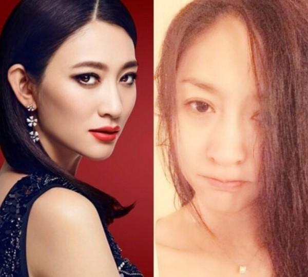 经常晒自拍的赵薇也喜欢晒素颜,对比妆后明显年轻了好多.