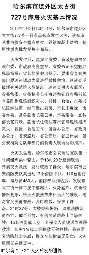 刘植荣:哈尔滨大火偶然中有必然 - 刘植荣 - 刘植荣的博客