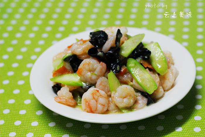简单的小炒让孩子营养更全面【虾仁滑炒木耳芦笋片】 - 慢美食 - 慢 美 食