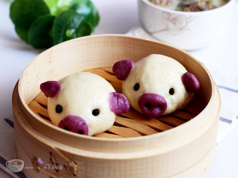 【再见渣难--九阳破壁豆浆机】豆浆小猪馒头 - 叶子的小厨 - 叶子的小厨
