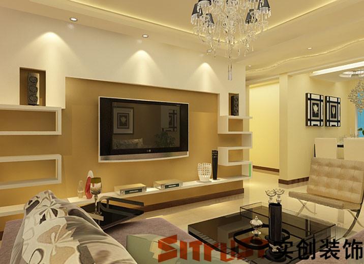三室两厅-现代简约风格-造价8万---客厅沙发背景墙