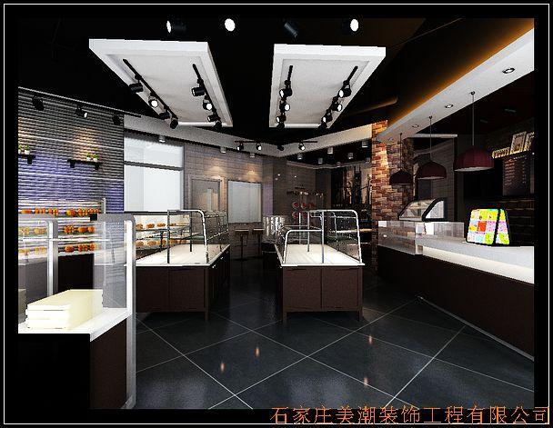 [蛋糕房设计] 贵妃猫第三个蛋糕店设计 黑白时尚现代风格
