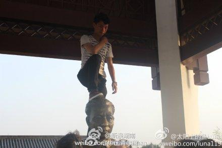 踏在刘少奇铜像头上的那只脚 - 林海东 - 林海东的博客