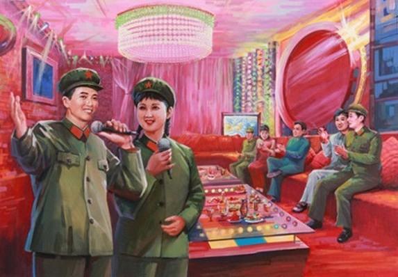 朝鲜画家画的中国女兵竟神似金正恩祖母(组图) - 遇果林 - 遇果林-原生态博客