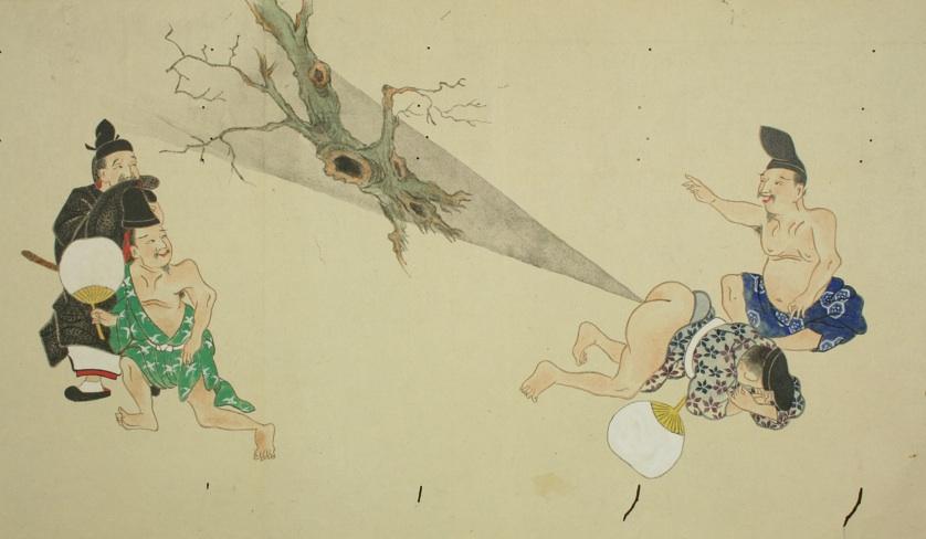 """变态!日本浮世绘里""""屁的战斗"""" - 爱历史 - 爱历史---老照片的故事"""