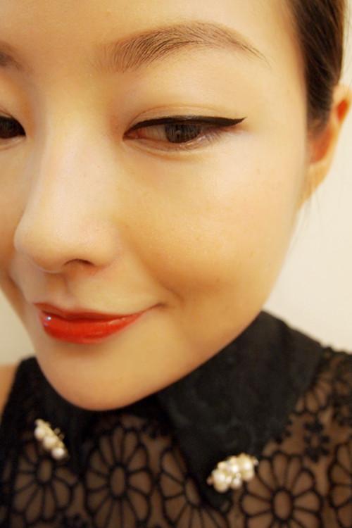 复古红唇眼线妆(附教程) - 猫大妞 - 猫大妞
