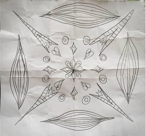 """这幅画既是左右而或上下的轴对称图形,同时又是中心对称图形!"""""""