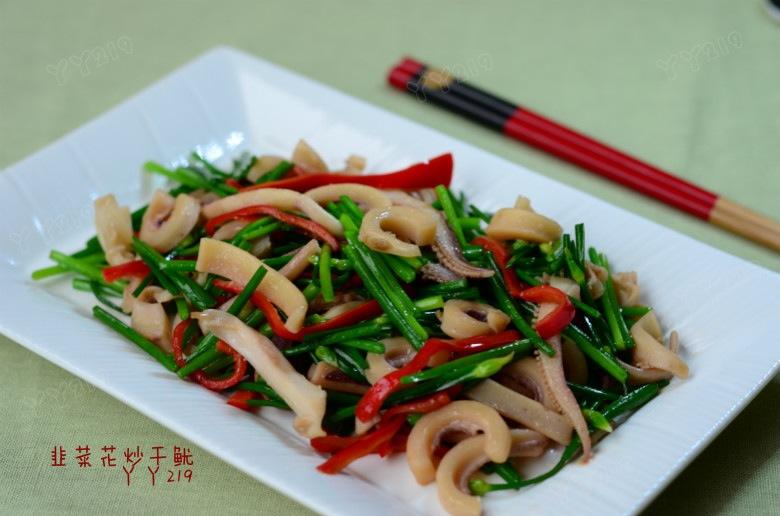 家常快手下饭菜——【韭菜花炒干鱿】 - 慢美食 - 慢 美 食