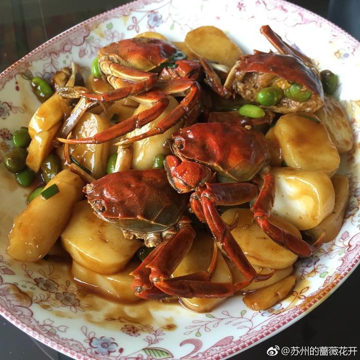 螃蟹炒年糕 - 蔷薇花开 - 蔷薇花开的博客