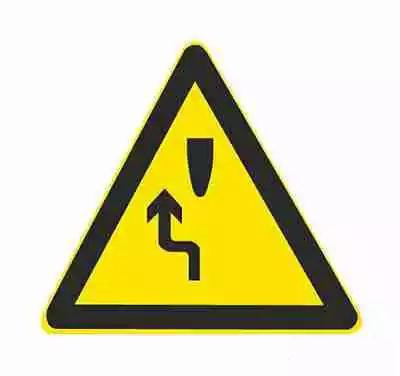 左侧绕行用以告示前方道路有障碍物,车辆应按标志指示减速慢行。