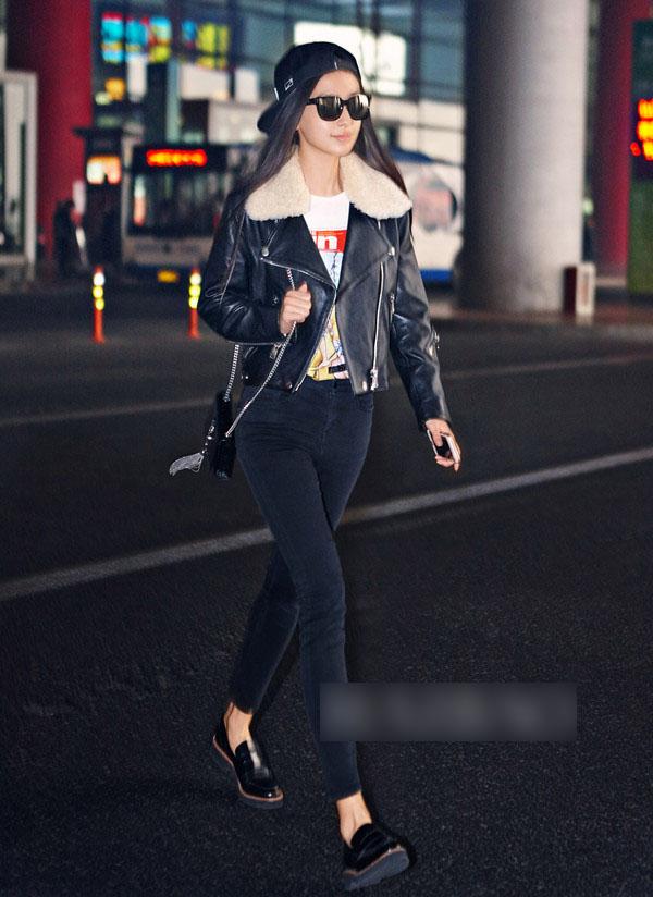 乍暖还寒 女星示范皮衣夹克解决问题 - 嘉人marieclaire - 嘉人中文网 官方博客