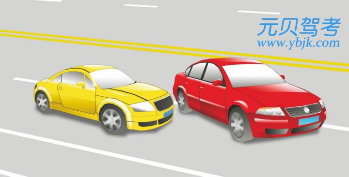 这辆红色轿车变更车道的方法和路线是正确的。答案是错