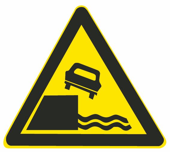 这个标志是何含义?A、堤坝路B、临崖路C、易滑路D、傍水路