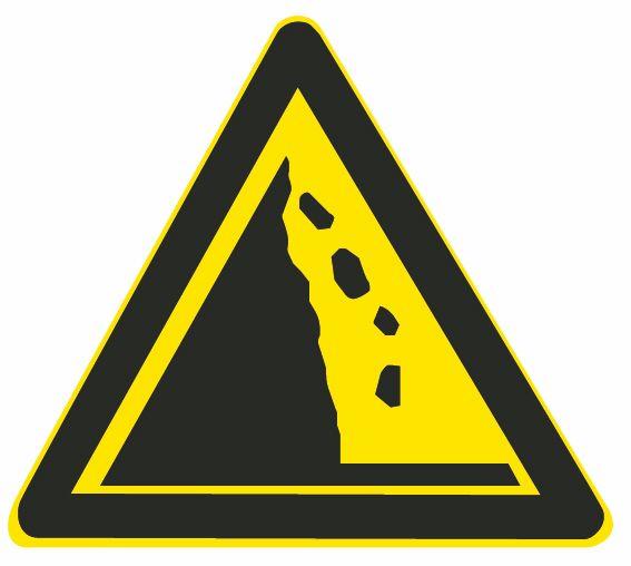 这个标志是何含义?A、傍山险路B、悬崖路段C、注意落石D、危险路段答案是C