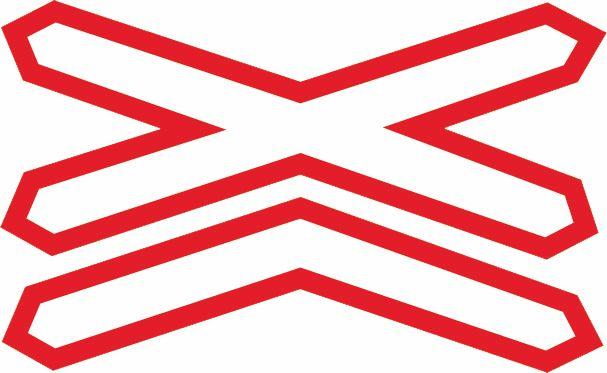 如圖所示,鐵路道口設置這個標志,是提示駕駛人前方路口有單股鐵道。答案是錯